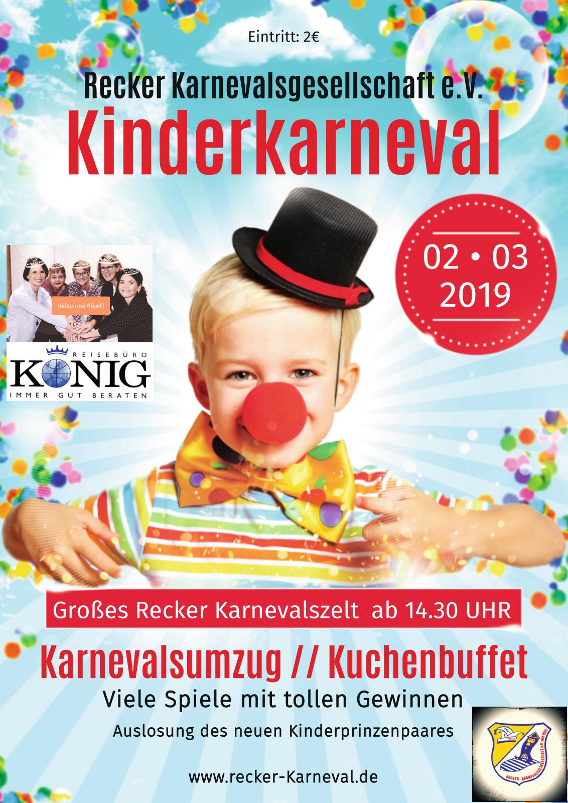 Kinderkarneval 2019 Flyer